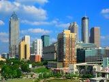 Atlanta, mrakodrapy v centru města