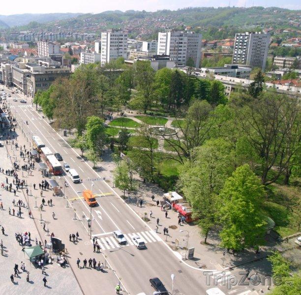 Fotka, Foto Banja Luka, pohled na městský park (Bosna a Hercegovina)