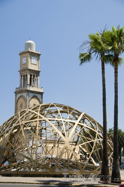 Fotka, Foto Casablanca, mešita na Place Mohammed V (Maroko)