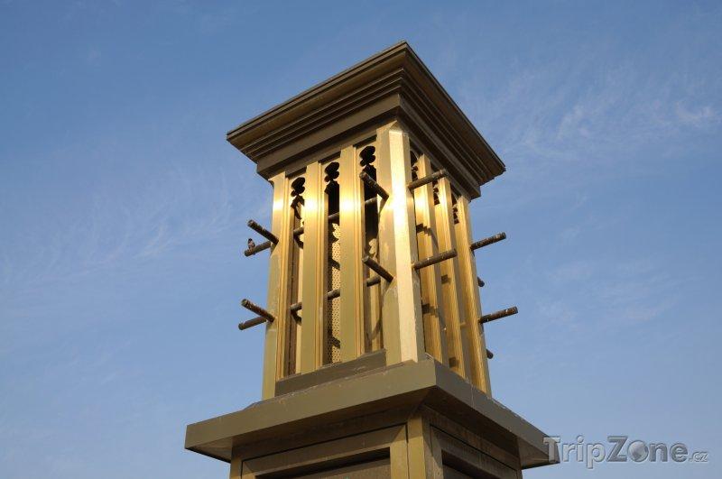 Fotka, Foto Dubaj, tradiční odvětrávací věž ze zlata (Spojené arabské emiráty)