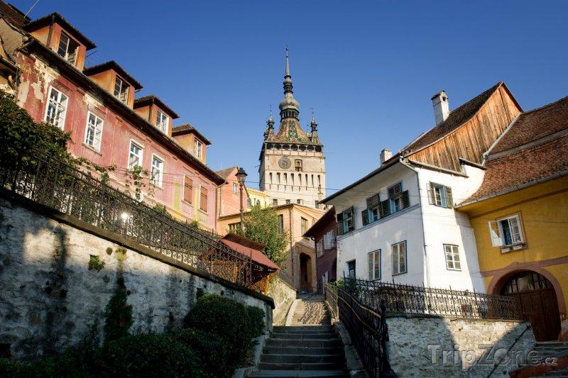 Fotka, Foto Hodinová věž ve městě Sighișoara (Rumunsko)