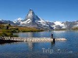Jezero u hory Matterhorn