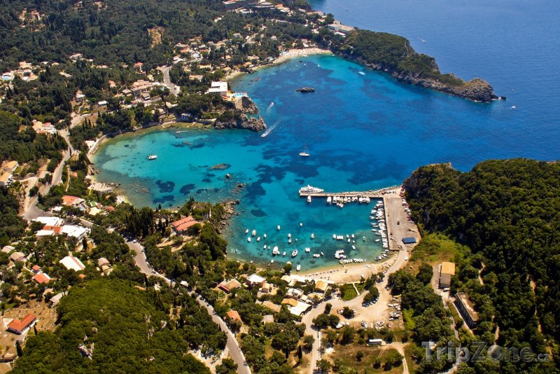 Fotka, Foto Korfu, záliv Palaiokastritsa (Řecko)