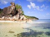 La Digue, pláž Anse Source d'Argent