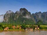 Městečko Vang Vieng