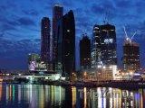 Moskva, Obchodní centrum v noci