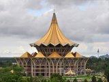 Nová budova Parlamentu ve městě Kuching