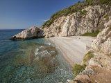 Pláž Micro Seitani na ostrově Samos
