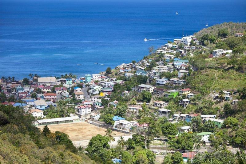 Fotka, Foto Pohled na město Castries (Svatá Lucie)