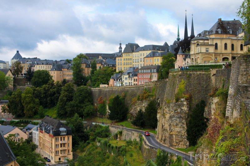 Fotka, Foto Pohled na město z útesu Bock (Lucemburk, Lucembursko)