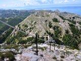 Pohled na pohoří Biokovo z hory sv. Jura