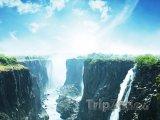 Pohled na Viktoriiny vodopády