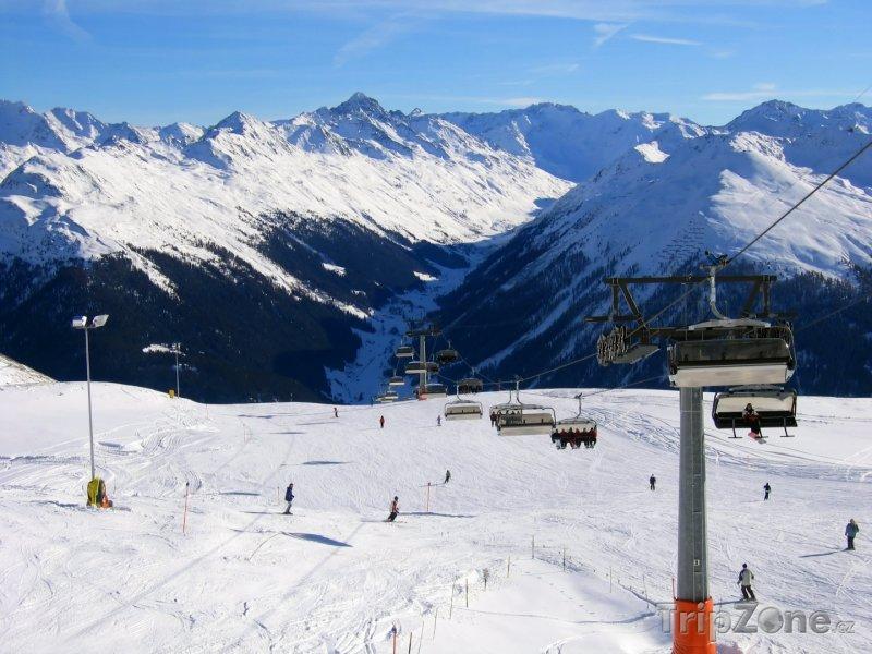 Fotka, Foto Ski resort v Davosu (Švýcarsko)