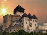 Trenčínský hrad v západu slunce