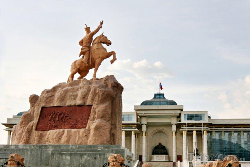 Fotka, Foto Ulánbátar, pomník Süchbátara (Mongolsko)