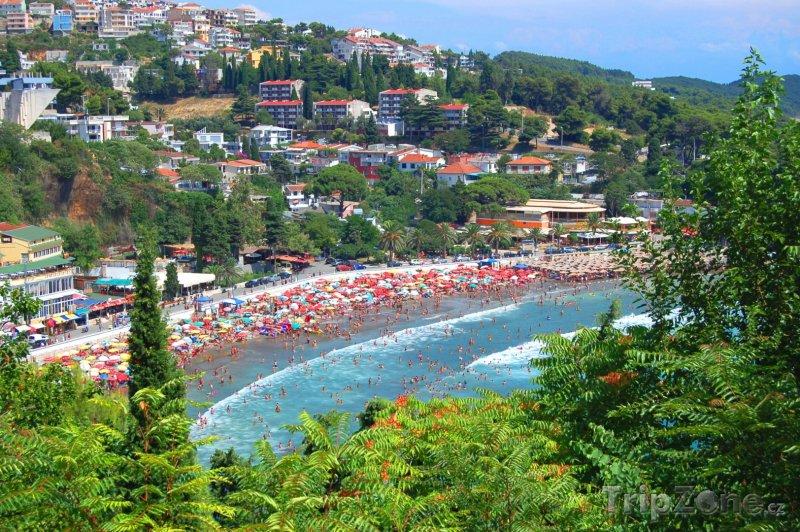 Fotka, Foto Ulcinj, pohled na pláž Ženska Plaža (Černá Hora)