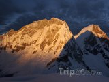 Vrchoek hory Huascaran v pohoří Cordillera Blanca
