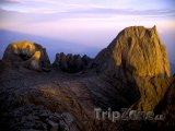Vrchol hory Kinabalu