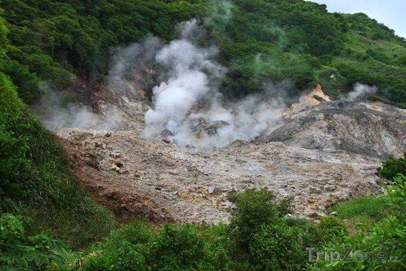 Fotka, Foto Vulkán Sulphur Springs (Svatá Lucie)