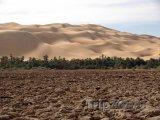 Vyschlé jezero v libyjské poušti
