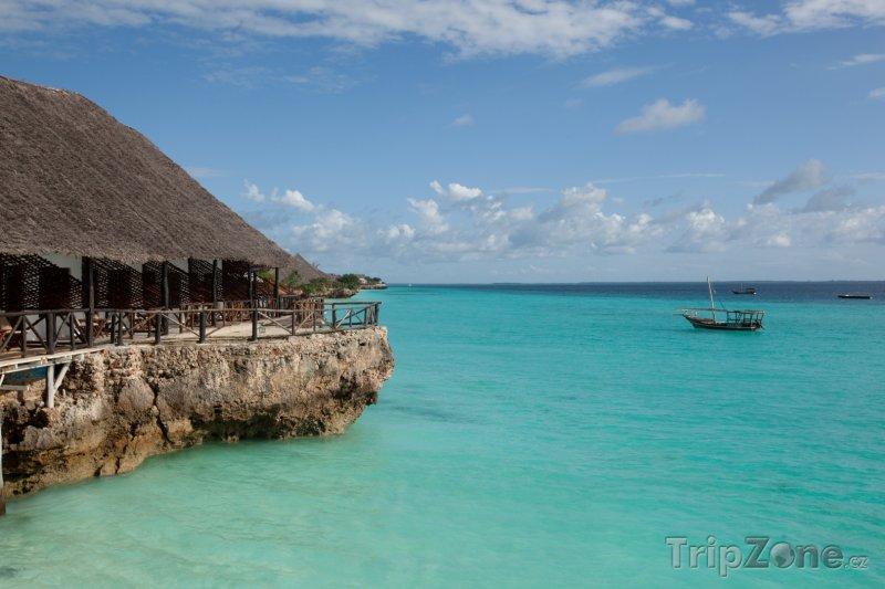Fotka, Foto Zanzibar, molo s restaurací (Tanzanie)