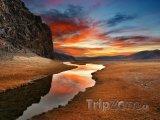 Západ slunce nad pouští Gobi