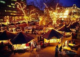 Budapešť, vánoční trhy na náměstí Vörösmarty