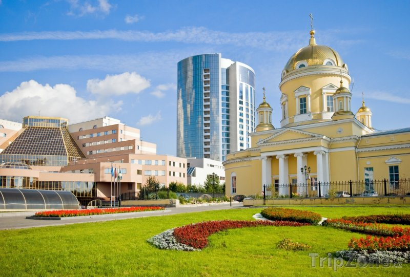 Fotka, Foto Jekatěrinburg, katedrála svaté Trojice (Rusko)