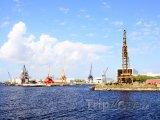 Jeřáby v Port of Tampa