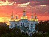 Katedrála v západu slunce
