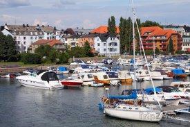 Kristiansand, jachty v přístavu