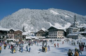Lyžařské městečko La Clusaz