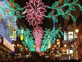 Madrid, vánoční výzdoba v ulici Gran Vía