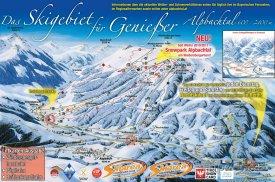Mapa lyžařského střediska Alpbachtal