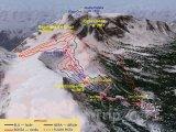 Mapa lyžařského střediska Alpe Ciamporino