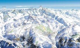 Mapa lyžařského střediska Alpe d'Huez