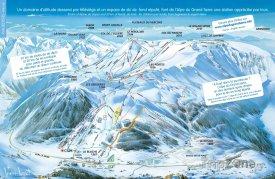 Mapa lyžařského střediska Alpe du Grand Serre