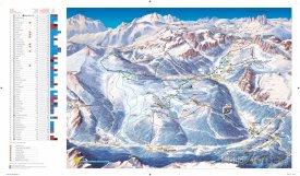 Mapa lyžařského střediska Alta Badia