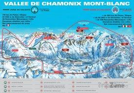 Mapa lyžařského střediska Argentière