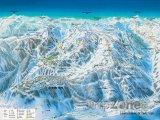 Mapa lyžařského střediska Auron