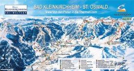 Mapa lyžařského střediska Bad Kleinkirchheim
