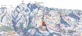 Mapa lyžařského střediska Breuil-Cervinia