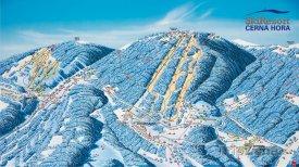 Mapa lyžařského střediska Černá hora