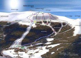Mapa lyžařského střediska Chalmazel