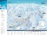 Mapa lyžařského střediska Combloux