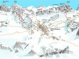 Mapa lyžařského střediska Cortina d'Ampezzo