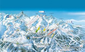 Mapa lyžařského střediska Courchevel