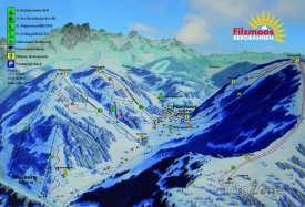 Mapa lyžařského střediska Filzmoos