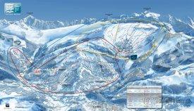 Mapa lyžařského střediska Flaine