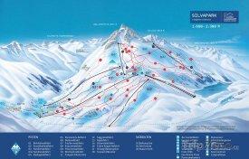 Mapa lyžařského střediska Galtür
